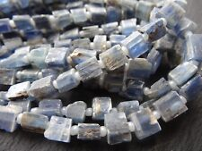 """ROUGH KYANITE CUBED RECTANGLES, approx 4x5mm - 7x8mm, 10"""" strand, 30+ beads"""