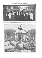 WWI London Admiral Beatty Maréchal Foch Parade Sailors Buckingham ILLUSTRATION