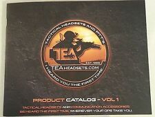 TEA Headsets Product Catalog Volume 1 NEW 2015 / Tactical Headsets and PTTS