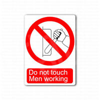 Danger Do Not Touch Men Working Sign Sticker