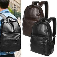 Nouveau sac à dos en cuir pour hommes voyage cartable à main épaule scolaire BR