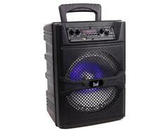 DUAL Tragbarer Bluetooth Lautsprecher Box Musikbox Boombox Karaoke Party mit USB