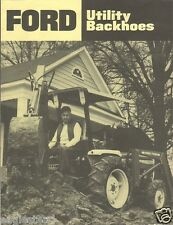 Equipment Brochure - Ford - 757A 758A - Utility Backhoe - c1980's (E1172)