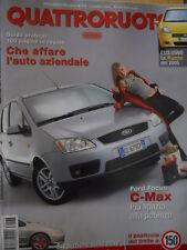 Quattroruote 578 2003 Ford Focus C-MAX - La Punto del 2005   [Q51]