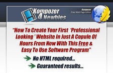 Kompozer For Newbies Video Tutorials on CD