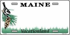 Maine State Background Novelty 6 x 12 Metal License Plate Auto Tag Sign