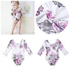 Newborn Girls Kids Floral Bodysuit Outfit Romper Jumpsuit One-Piece Baby Clothes