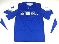 New Under Armour Seton Hall Pirates L/S Basketball Shooting Shirt Men's L Blue