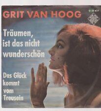 "7"" Vinyl Single Grit Van Hoog Träumen ist das nicht wunderschön 60`s Telefunken"