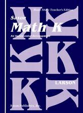 Saxon Math K Homeschool by SAXON PUBLISHERS