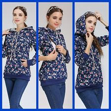 SALE FLORAL MATERNITY NURSING BREASTFEEDING JUMPER TOP HOODIE SIZE 8 10 12 14 16