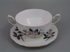 ROYAL ALBERT QUEENS MESSENGER TWO HANDLED SOUP COUPE AND SAUCER.