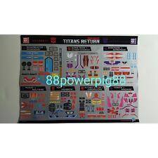 Transformers Titans Return Wave 2 SoundWave Blaster Trion Sticker Set US Seller