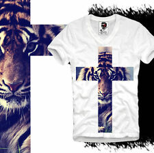 E1SYNDICATE V T SHIRT TIGER CROSS HIPSTER WASTED YOUTH ELEVEN DC PARIS S/M/L/XL