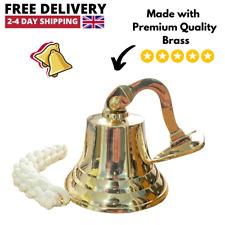 More details for antique brass wall bell vintage ship's school pub last orders dinner door 4 inch