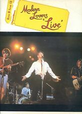 MODERN LOVERS live HOLLAND 1977 EX LP