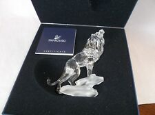 Swarovski crystal Lion figurine RETIRED - in original box