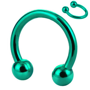 16g 20g Balls Circular Barbell Horseshoe Lip Nipple Septum Ring 6/8/10/12/14 MM