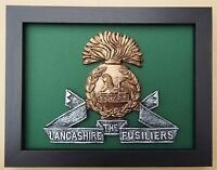 Large Scale Framed LANCASHIRE FUSILIERS BADGE Plaque