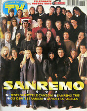 SORRISI 8 1997 Sanremo Edwige Fenech Armand Assante John Travolta Pippo Baudo