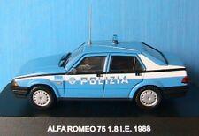 ALFA ROMEO 75 1.8 I.E. 1988 POLIZIA DEAGOSTINI 1/43 NEW ITALIA POLICE ITALIENNE