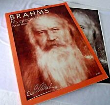 Piano Brahms Greatest Solos Poster Composer Music Original Form Waltzes Scores