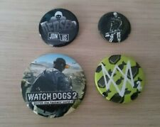 Watch Dogs 2 - 4 Button Badges - PROMO - Official Ubisoft - Excellent Condition
