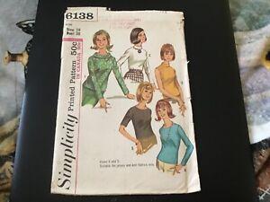 Vintage Simplicity sewing pattern # 6138