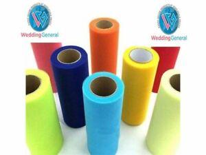 "WeddingGeneral's Tutu Tulle Roll 6"" W x25yds Soft Netting Craft Fabric Gold"