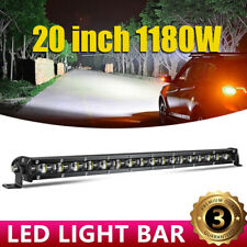 "20""inch 11800W 118000LM Aluminum 6D Spot Beam Slim LED Work Light Bar Single Row"