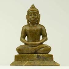 Buddha Statua Marmo personaggio bella statua pietra verde pezzo unico Nepal Buddha