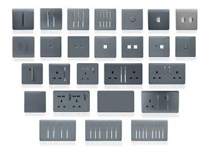 Trendi Switch Warm Grey Designer Lightswitches, Plug Sockets, Fused Spurs,TV