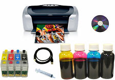 NEW Epson Stylus Photo C88+ Printer+Refill Cartridges+Refil Dye Bulk Ink,Bundle