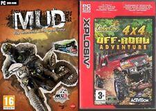 Mud Fim Motocross World Championship & Cabelas 4x4 Off Road Adventure Nuevo y Sellado