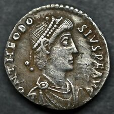 More details for a beautiful silver siliqua of theodosius i, treveri, ad 379-383. ric 55a. e.f+