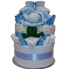 New Born Boy Delux Beautifully for Baby Gift Nappy Cake Blue