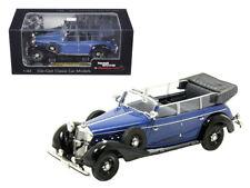 1938 Mercedes 770K Parade Car Blue 1/43 Diecast Car Model by Signature Models