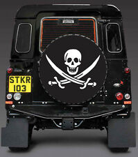 PIRATE- SKULL AND SWORDS- JACK RACKHAM SPARE WHEEL COVER STICKER 4x4