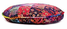 Large Indian Round Floor Pillows Mandala Decor Meditation Cushion Cover Decor