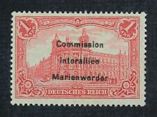 CKStamps: Germany Stamps Collection Marienwerder Scott#31 Mint H OG Signed
