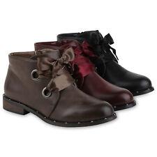 Damen Stiefeletten Schnürstiefeletten Gefütterte 818029 Schuhe