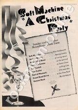 Soft Machine Arthur Brown Ivor Cutler Lol Coxhill M Gibbs MM3 show advert 1973