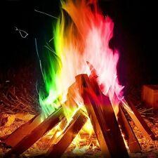 Mystical Fire Magic Tricks Coloured Flames Bonfire Sachets Fireplace Color Toy
