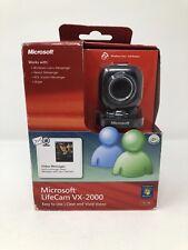 Microsoft LifeCam VX-2000 Webcam Camera, Black PC USB Video Message Skype Yahoo