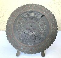 VTG Antique Collectible 100 Year Circular time Calendar 1959 to 2058 (Brass) art