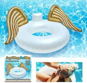 Giant Inflatable Swimming Ring Beach Pool Angel Round Swim Float Aid Fun Air Bed