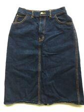Women's P. S. GITANO Vintage 1983 High-Waist Blue Denim Skirt (Knee Length) 8