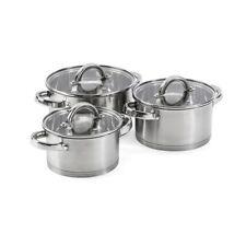 6 PC Stock Pot Set Saucepan Stew Casserole Pots Stockpot Pans Lid Induction Soup