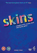 Skins Series 1-4 (DVD, 2010, 12-Disc Set, Box Set)