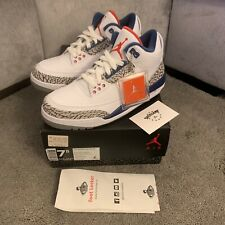 Brand New Nike Air Jordan Retro 3 True Blue (2016) 854262-106 UK 6.5 / US 7.5